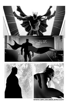 Batman: Black and White page 3 by cabaleiro-art