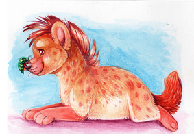 Hyena and Friend by ThayRustback