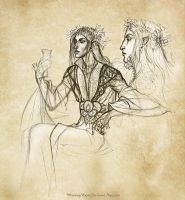 Thranduil, sketch by WunderVogel