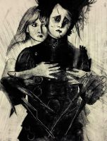 Edward Scissorhands and Kim by gilly15