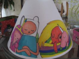 Sleepy Time Lampshade WIP by SharpieSam