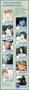 My top 10 Anime Hottest Guys by mmeades01