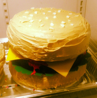 Hamburger Cake by QuirkyCakes