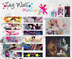 tag wall Motto colors by Hachi-doll
