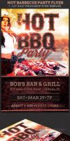 Hot Barbecue Party Flyer Template by Godserv