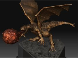 Dragon Statue Sculpt1 by rickystinger88