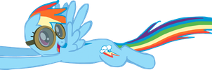 My first Rainbow Dash vector. by Flutterflyraptor