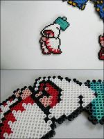 Final Fantasy 1 White Mage (attacking) bead sprite by 8bitcraft