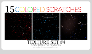 15 Colored Scratch Textures 04 by ennife-resources
