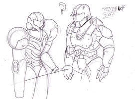 Samus and Master chief meeting? by TheIcedWolf