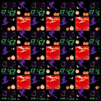 Halloween Seamless Pattern #2 by FractalBee