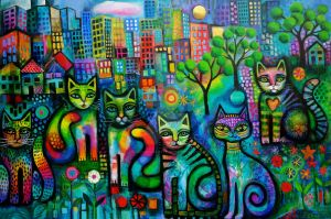 Metropolitan cats ( Out on the town ) by karincharlotte