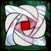 Nouveau Rose Stained Glass by bigblued