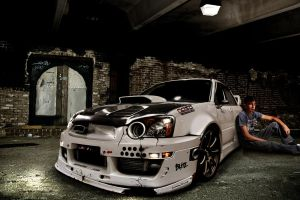 subaru impreza crashed by backo-designs