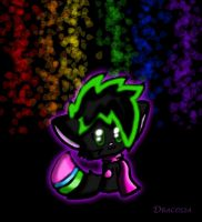 Lumi in the rainbow lights by Dracosia