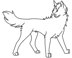 Wolf Lineart by CyndersAlmondEyes