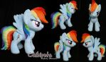 Rainbow Dash custom Plush by Chibi-pets
