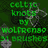 Celtic Knots Brush Set by KitWolfren