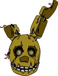 Five Nights at Freddy's Springtrap shirt design by kaizerin