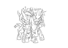 Twins comission sketch by Mickeymonster