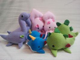 Dinosaurs Squids and Narwhals Oh My by Jonisey