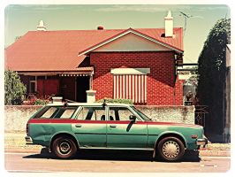 Old Mazda wagon, Old house by ryanthescooterguy