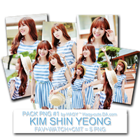 Pack Png #1 - Kim Shin Yeong by Haqy-cute