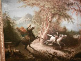 Headless Horseman Pursuing Ichabod Crane by Flaherty56