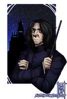 COMMISSION [BUST]: Severus Snape by SketchbookGeek