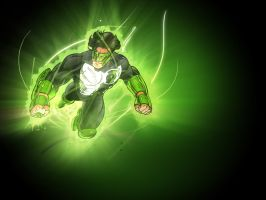 Green Lantern wallpaper. by TheRezidentEvil