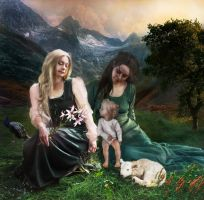 Anne, Marie and child (todays's version) by Manink