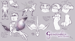 Grimoirekin Species Reference Part 1 by FlightyFelon