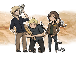 The Hunger Games: Golden Trio by Avender