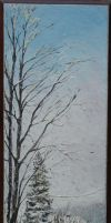Winter on Wood by sorinapostolescu