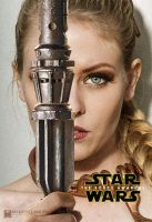 Slave Leia Awakens - Take on the Star Wars Poster by wbmstr