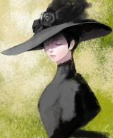 Black hat woman by chalii