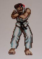 Street Fighter II Bead Sprite by monochrome-GS