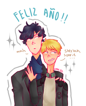Happy New Year - Johnlock by 69Re-ID