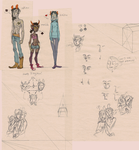 Rochol draws Homestuck fancharacters at school by VCR-WOLFE
