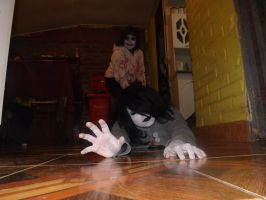 Jane the Killer and jeff The killer cosplay by bloody-kazu