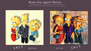 Draw This Again - Simpsons Kids by MissFuturama