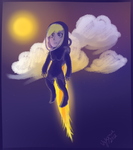 Spacegirl in the troposphere by Velexane