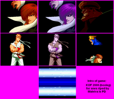 KOF 2000 for SNES intro by Maleiva