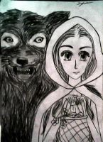 Little Red Riding Hood and the Wolf by TigerChn