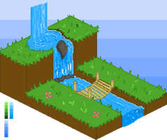 Pixel Art - Grassy level by Fergtron
