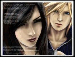 Cloud Strife and Tifa Lockhart by teef