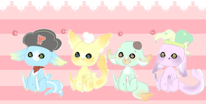 Gummi Shark Pups 3 -Hat Edition- .:Closed:. by Pieology