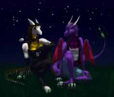 Moonlit Conversation by AlphaGodith