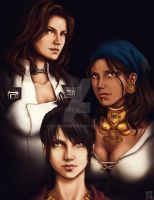 Women of Bioware by trixdraws