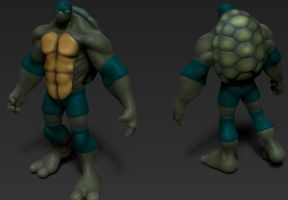 Titian: TMNT Progress by Dmonk